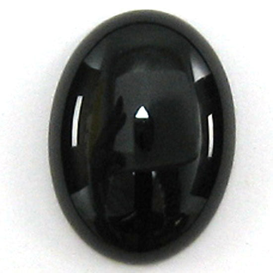 2 pieces 12x18mm black onyx oval cabochon cab