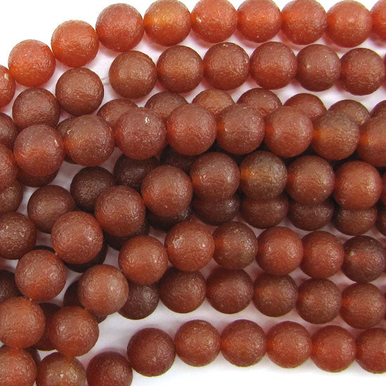 "12mm matte red carnelian round beads 15"" strand S2"