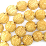 20mm bone carved turtle beads 7.5