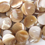 20mm natural mother of pearl mop coin beads 15.5