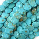 4x16mm blue turquoise lentil beads 16