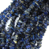 4mm - 6mm natural blue lapis lazuli chip beads 32