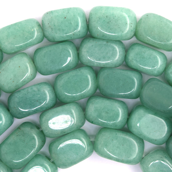 "10-12mm green aventurine nugget beads 15.5"" strand"