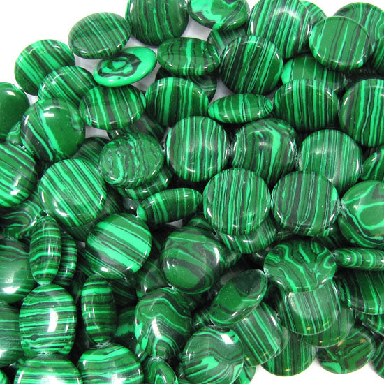 "15mm synthetic green malachite coin beads 15.5"" strand"