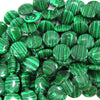 15mm synthetic green malachite coin beads 15.5