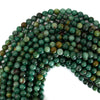 8mm green dragon blood jasper round beads 16