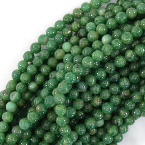 "6mm faceted ruby red jade round beads 15.5"" strand"