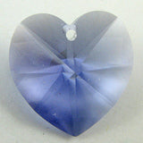 2 pieces 18mm Swarovski crystal heart pendant 6202 tanzanite