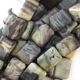 18mm silver leaf jasper nugget beads 15.5