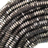 4mm brown hematite diamond shape beads 16