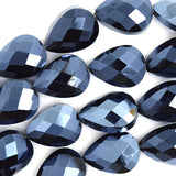 18mm faceted crystal flat teardrop beads 15.5