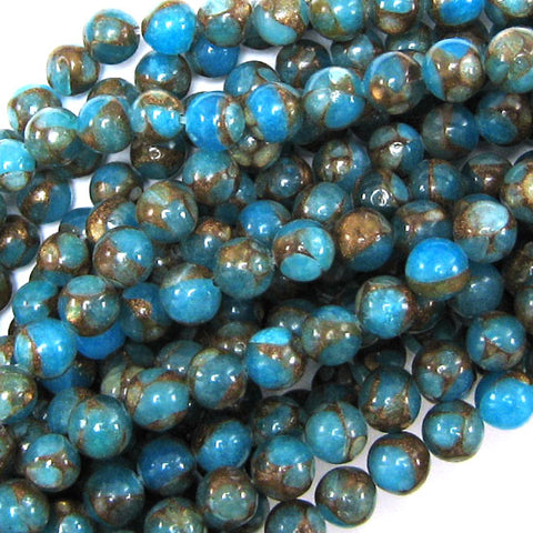 "14mm blue aquamarine jade rectangle beads 15"" strand"
