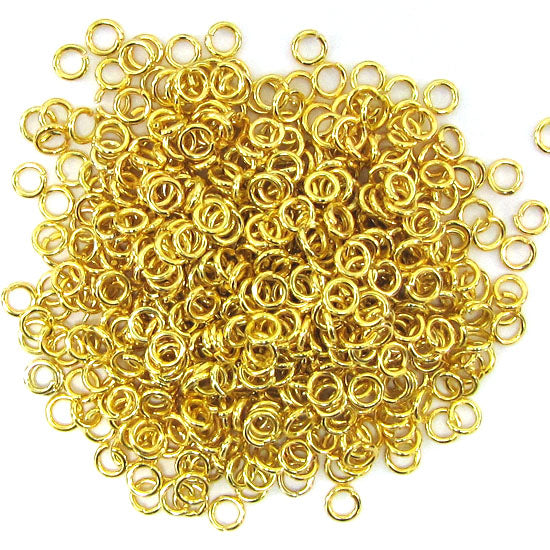 400 4mm gold plated open jump rings findings