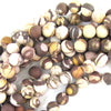 10mm matte brown zebra jasper round beads 15