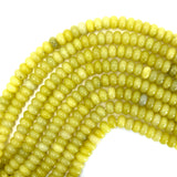 10mm lemon jade rondelle beads 15.5