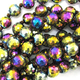 10mm faceted quartz round beads 14