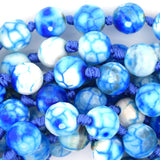 12mm faceted agate round beads 13