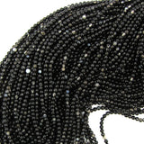 2mm black sardonyx round beads 16