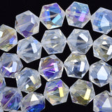 14mm faceted crystal hexagon beads 7.5