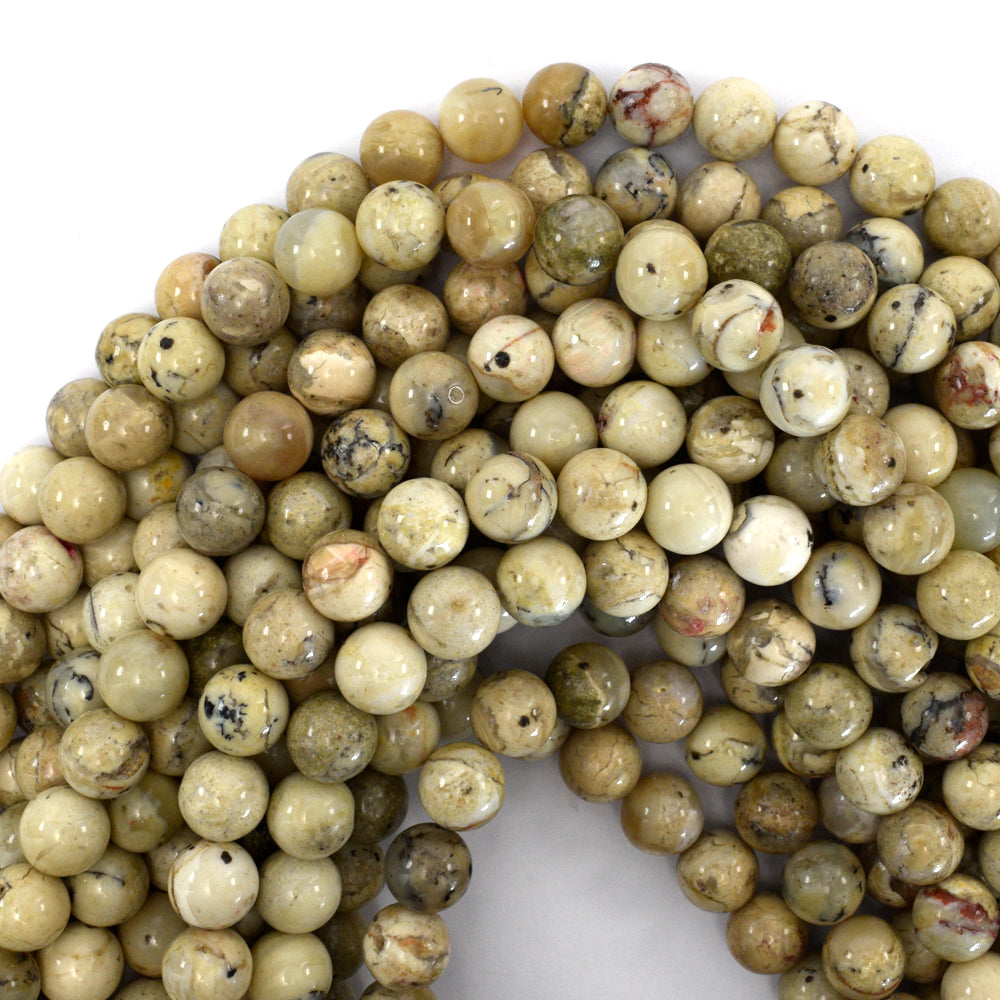 "10mm african opal round beads 15.5"" strand"