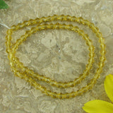 4mm citrine crystal glass bicone beads 12