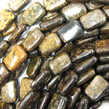 14mm bronzite rectangle beads 16