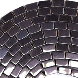 5mm hematite side tube beads 16
