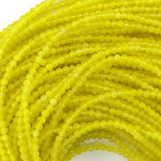 "2mm jade round beads 15"" strand seed olive"