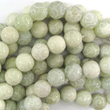 10mm new jade carved round beads 15.5