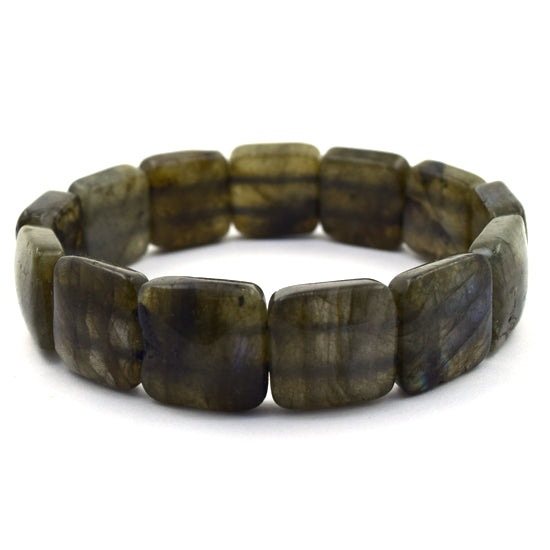 16mm labradorite stretch bracelet 8""