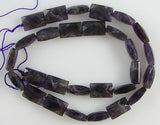 14mm faceted amethyst cushion cut rectangle beads 16