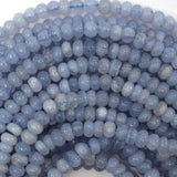 6mm blue lace agate rondelle beads 15.5