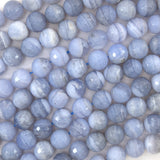 10mm faceted blue lace agate round beads 15.5
