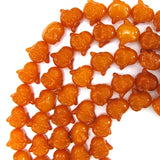 20mm synthetic honey amber carved buddha beads 16