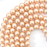 12mm pink shell pearl round beads 16