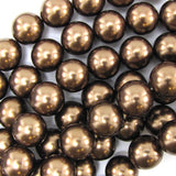 12mm brown shell pearl round beads 15