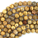10mm cream brown Tibetan DZI agate round beads 14.5