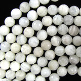 11mm - 12mm faceted white moonstone round beads 15