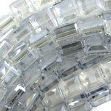 13mm matte faceted crystal square beads 16