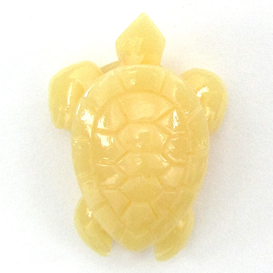 4 pieces 33mm synthetic cream coral carved turtle pendant beads