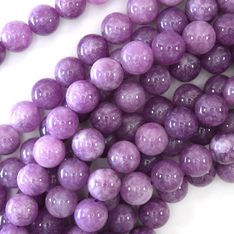 "8mm matte rainbow light purple quartz round beads 15.5"" strand"
