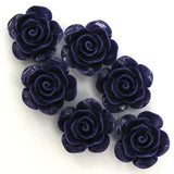 15mm synthetic coral carved rose flower beads 15