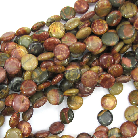 "12mm multicolor picasso jasper round beads 15.5"" strand"