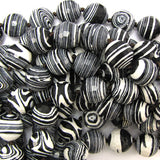 14mm faceted black rainbow calsilica round beads 11