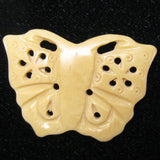 2 pieces 44mm bone carved butterfly pendant beads