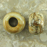 10 pieces 14mm picture jasper beads 6mm hole size