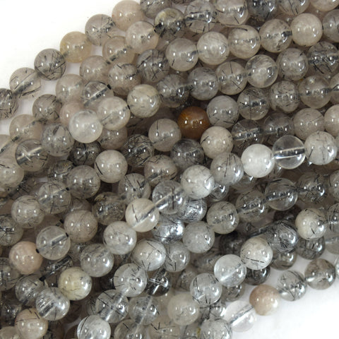 "12mm smoky quartz round beads 15"" strand"