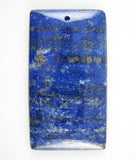 63mm blue lapis lazuli rectangle pendant bead