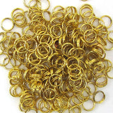 300 6mm gold plated open jump rings findings