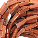 13mm goldstone side tube beads 15.5